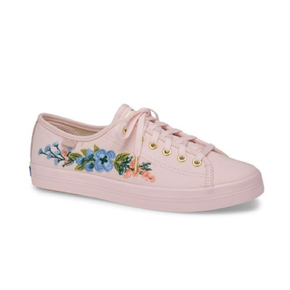 Keds Rifle Paper Co. Embroidered Sneakers.